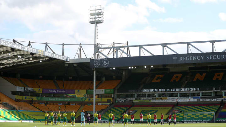 Norwich City and Manchester United player come together to applaud key workers.