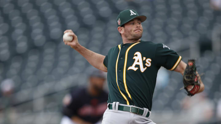 Former Oakland Athletics pitcher Kyle Finnegan has signed with the Washington Nationals