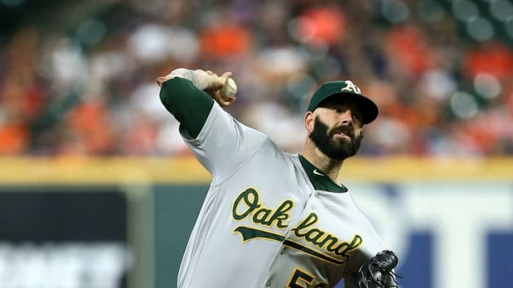 Oakland Athletics pitcher Mike Fiers
