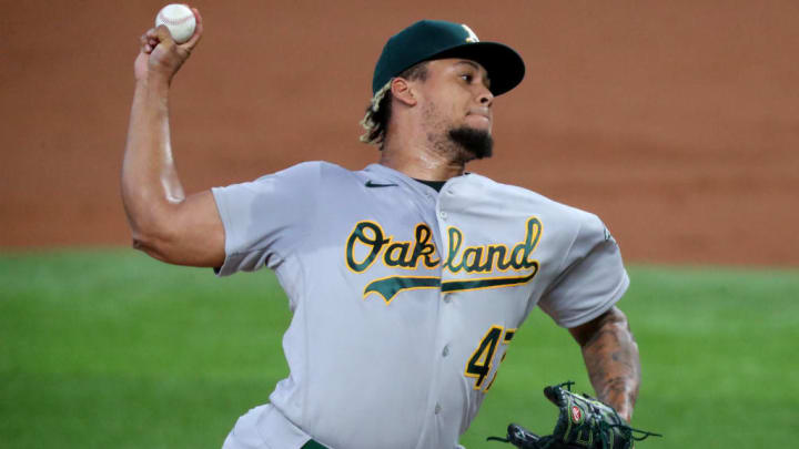 Frankie Montas is a top starting pitcher sleeper for fantasy baseball in 2021.