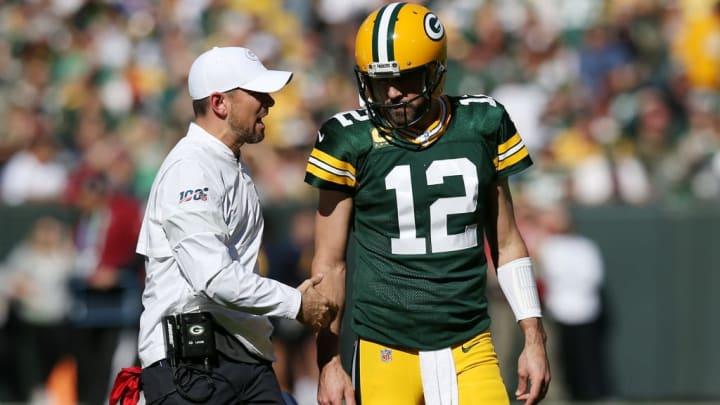 Green Bay Packers HC Matt LaFleur and QB Aaron Rodgers