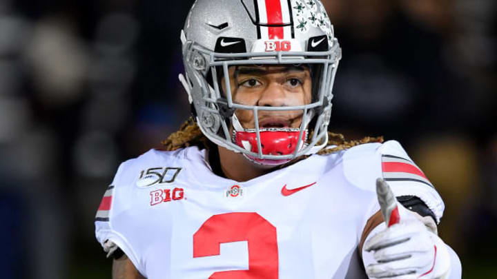 EVANSTON, ILLINOIS - OCTOBER 18: Chase Young #2 of the Ohio State Buckeyes warms up before the game against the Northwestern Wildcats at Ryan Field on October 18, 2019 in Evanston, Illinois. (Photo by Quinn Harris/Getty Images)