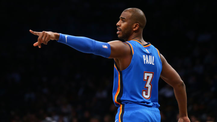 Chris Paul has helped lead this surprising OKC team to a 21-16 record.