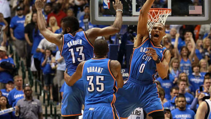 James Harden, Kevin Durant, Russell Westbrook