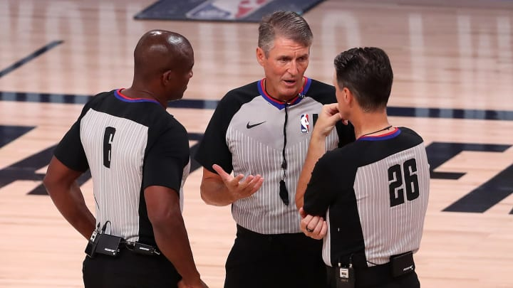 Referees during OKC - Houston game 7.