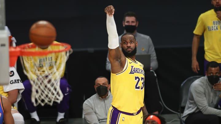 LeBron James shot.