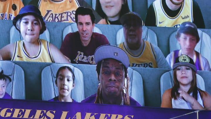 Lil Wayne was among the Lakers' virtual fans this postseason.