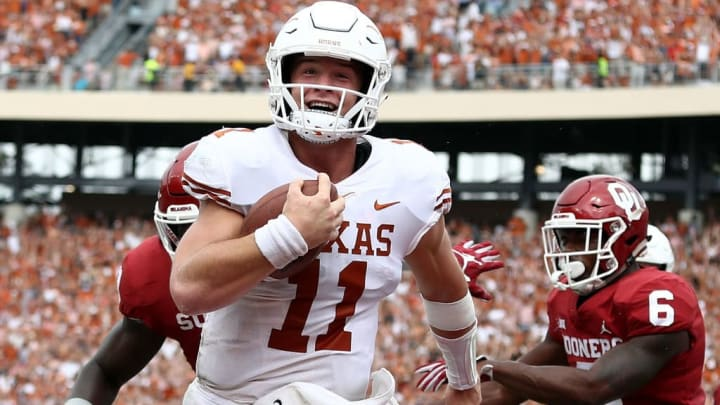 Sam Ehlinger passed for 32 touchdowns while running for another seven.