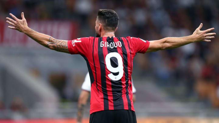 Olivier Giroud Milan Champions League