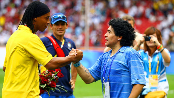 Ronaldinho and Maradona have been linked with an unlikely reunion