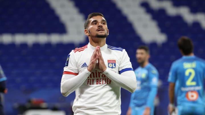 Houssem Aouar, le formidable meneur de jeu de l'Olympique Lyonnais.