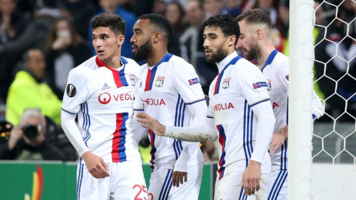 Arsenal's Alexandre Lacazette is a former teammate of Aouar's