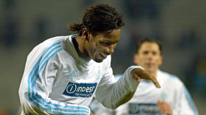 Olympique de Marseille forward Didier Dr