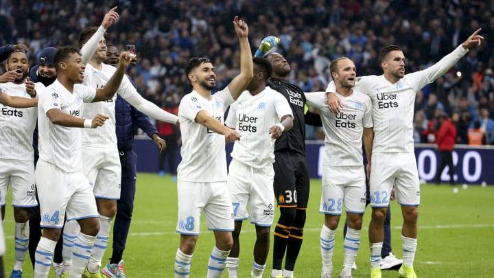 Boubacar Kamara, Morgan Sanson, Steve Mandanda, Valere Germain, Kevin Strootman