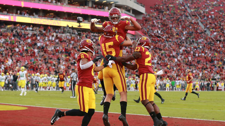 USC football receivers.