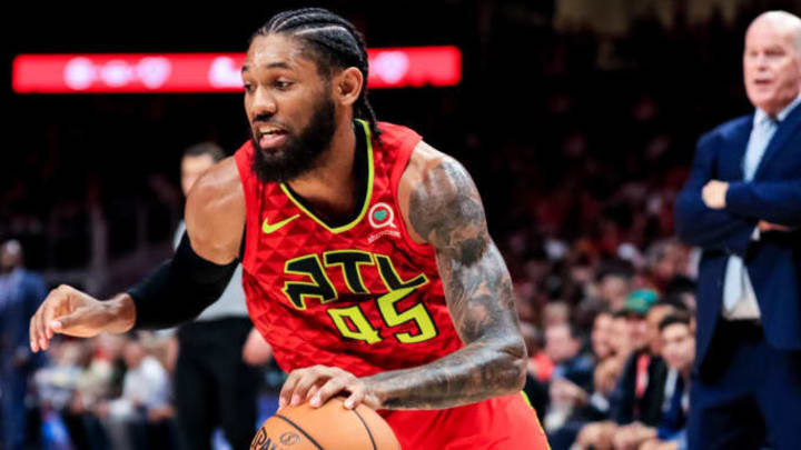 ATLANTA, GA - OCTOBER 26: DeAndre' Bembry #95 of the Atlanta Hawks in action during a game against the Orlando Magic at State Farm Arena on October 26, 2019 in Atlanta, Georgia. NOTE TO USER: User expressly acknowledges and agrees that, by downloading and or using this photograph, User is consenting to the terms and conditions of the Getty Images License Agreement. (Photo by Carmen Mandato/Getty Images)