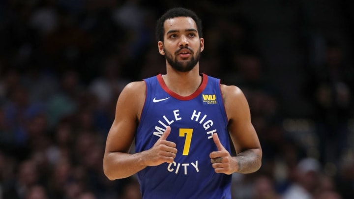 DENVER, CO - NOVEMBER 23:  Trey Lyles #7 of the Denver Nuggets plays the Orlando Magic at the Pepsi Center on November 23, 2018 in Denver, Colorado.  (Photo by Matthew Stockman/Getty Images) NOTE TO USER: User expressly acknowledges and agrees that, by downloading and or using this photograph, User is consenting to the terms and conditions of the Getty Images License Agreement.  (Photo by Matthew Stockman/Getty Images)