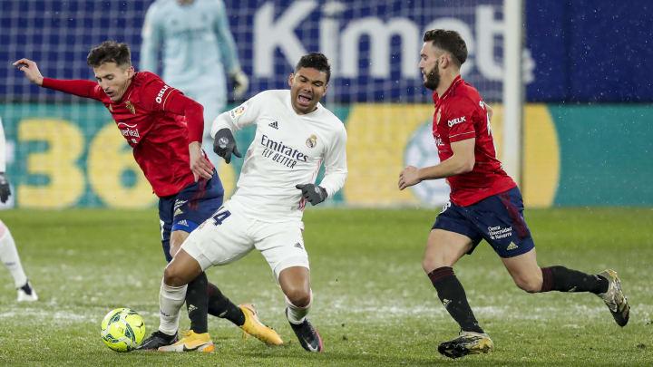 Le Real Madrid a été tenu en échec à Osasuna lors du match aller