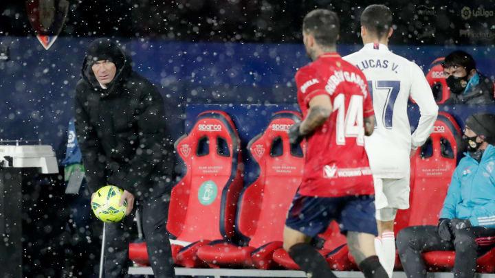 Cas contact cette semaine, Zidane a finalement pu prendre place sur le banc.