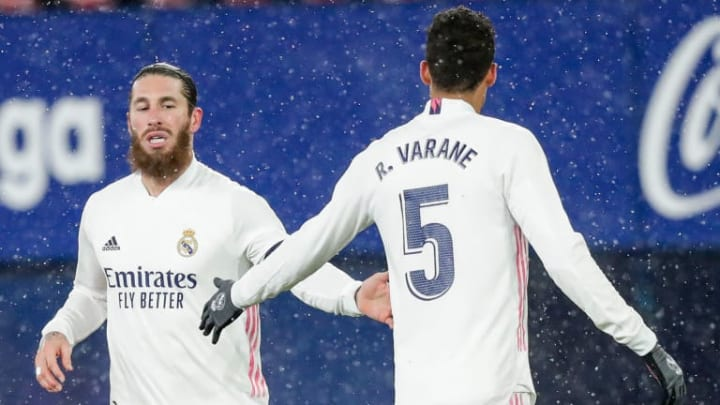 Sergio and Raphael Varane in action together