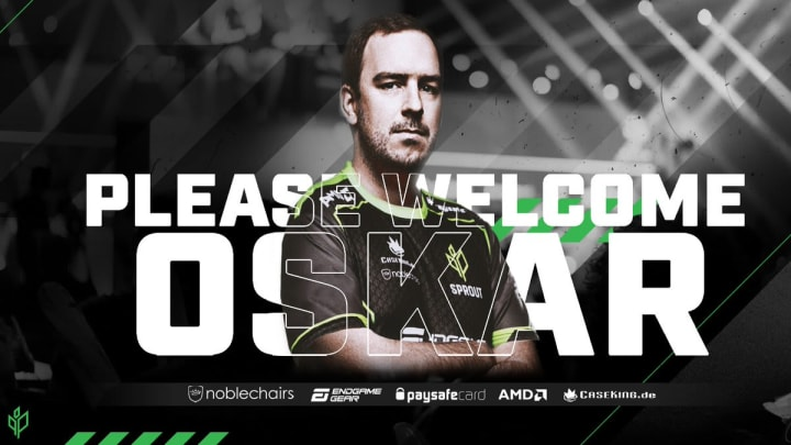 Sprout has formally announced the addition of Oskar to its CS:GO team