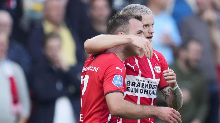 Legten in der Europa League gegen Sturm Graz einen starken Auftritt hin: Mario Götze (l.) und Philipp Max