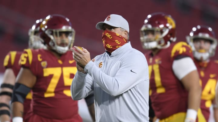 USC football head coach Clay Helton.
