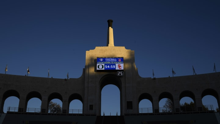 USC football at the Coliseum