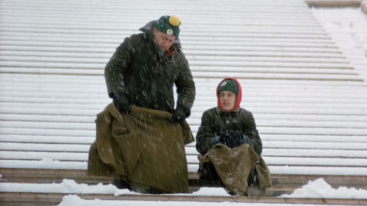 Packers Fans Keep Warm in Cold Green Bay