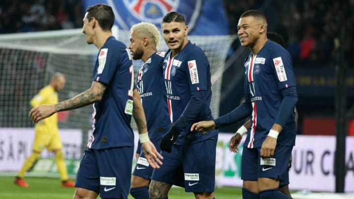 Mauro Icardi, Angel Di Maria, Kylian Mbappe, Neymar Jr