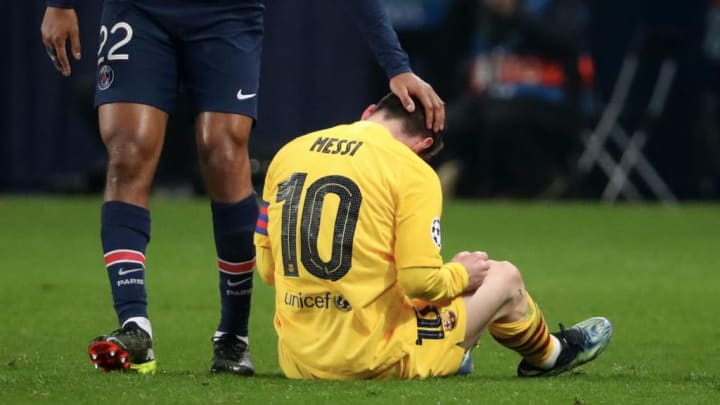 Lionel Messi Barcelona Paris Saint-Germain Champions League PSG