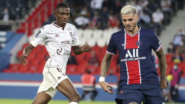 Mauro Icardi face à Metz lors du match aller.