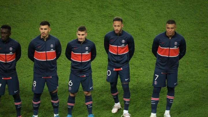 Leandro Paredes, Marco Verratti, Neymar Jr, Kylian Mbappe