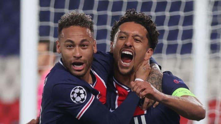 La joie du capitaine Marquinhos aux côtés de Neymar.