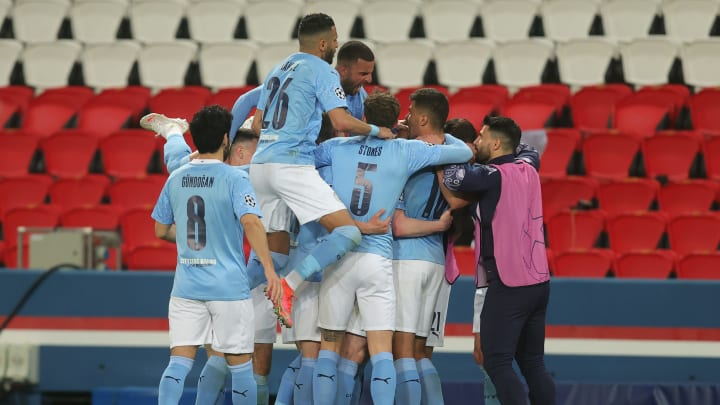 Celebration for Manchester City as they claim huge first leg victory