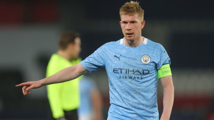 Kevin De Bruyne is back in training ahead of the upcoming Champions League