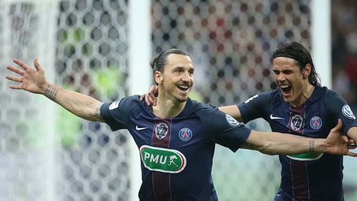 Zlatan Ibrahimovic, Edinson Cavani