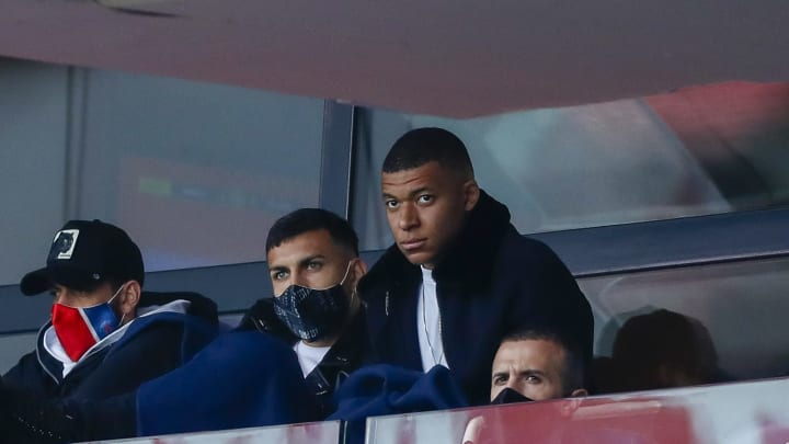 Kylian Mbappe has been struggling with a calf injury and missed PSG's Ligue 1 game with RC Lens