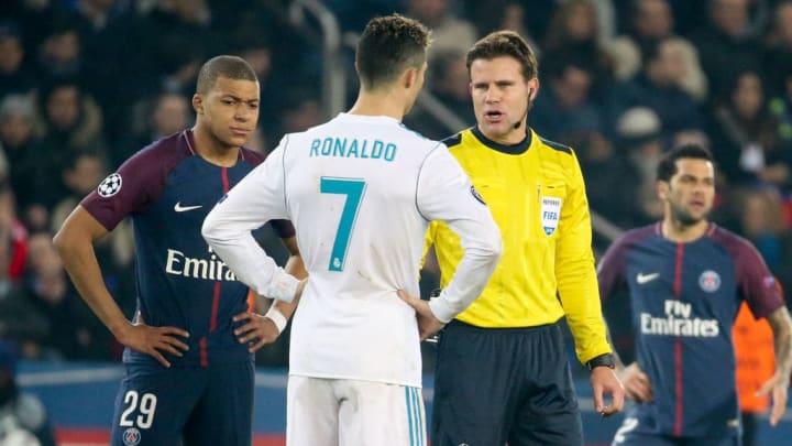 Felix Brych, Cristiano Ronaldo, Kylian Mbappe