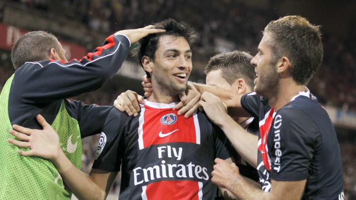 Paris Saint-Germain's Javier Pastore cel