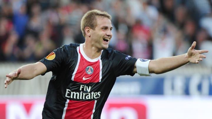 Paris Saint-Germain's midfielder Mathieu