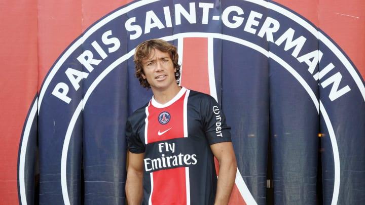 Paris Saint-Germain's newly recruited Di
