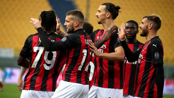 La festa del Milan a Parma
