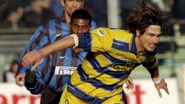 Parma v Inter Milan Dino Baggio