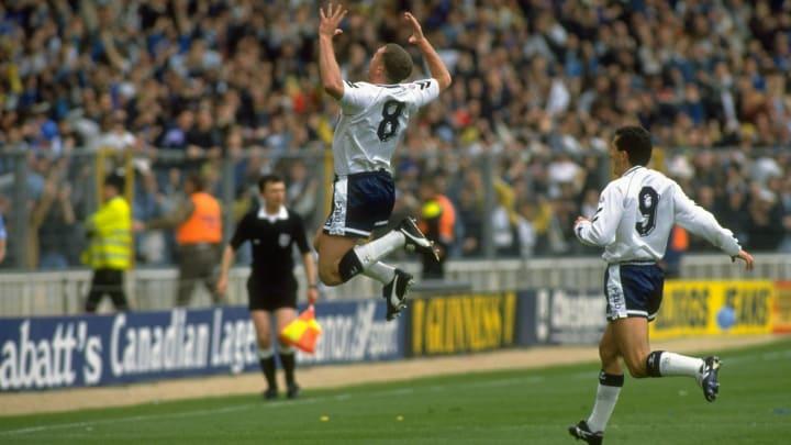 Paul Gascoigne of Tottenham Hotspur