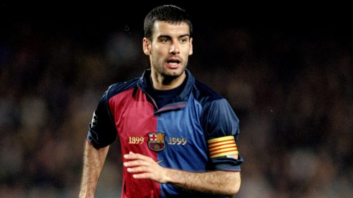 Pep Guardiola playing for Barcelona