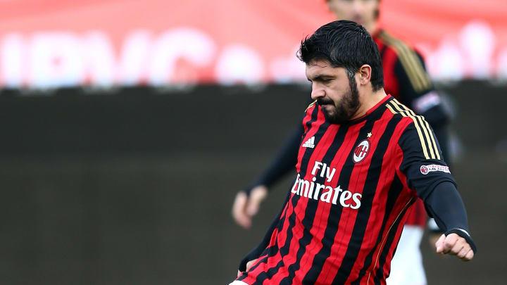 Gattuso con el AC Milan