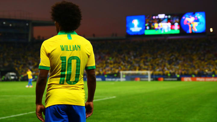 Willian com a 10 na Arena Corinthians