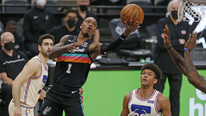 Lonnie Walker IV - Philadelphia 76ers v San Antonio Spurs