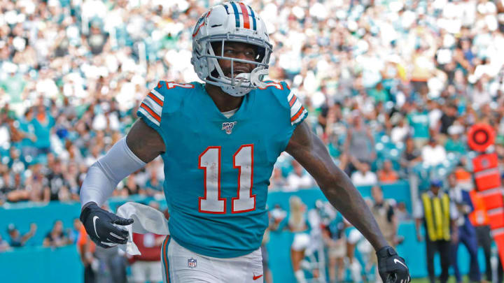 DeVante Parker broke out last season, tallying 1,202 receiving yards and nine TDs.